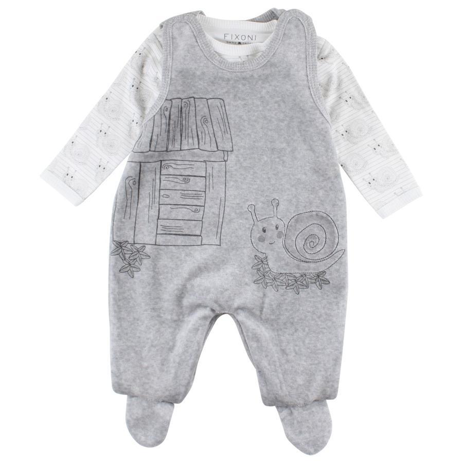 FIXONI Baby Strampler grey melange