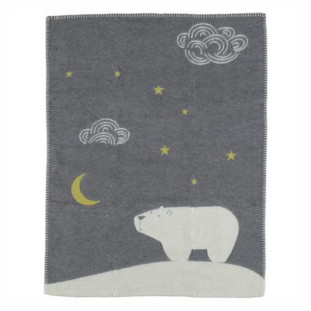 DAVID FUSSENEGGER Babytæppe isbjørn grå 65 x 90 cm