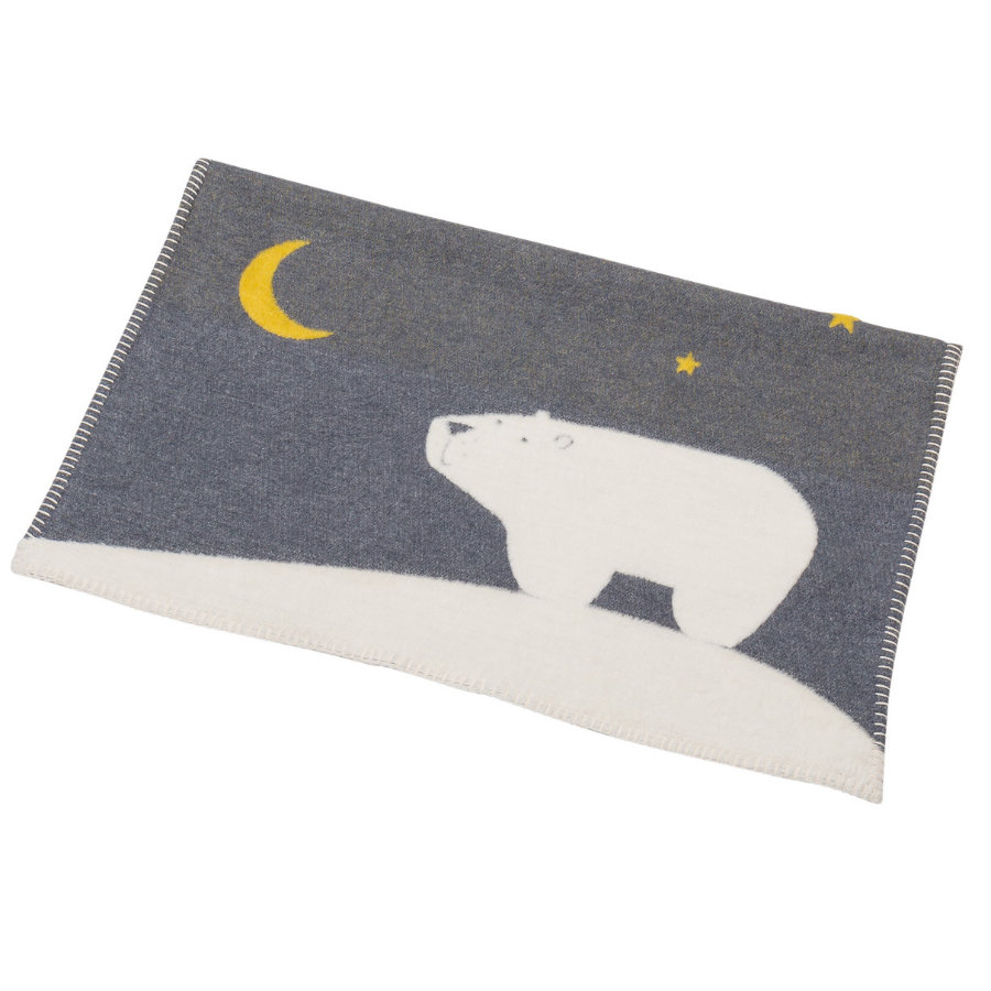 DAVID FUSSENEGGER Filt Isbjörn grå 65 x 90 cm