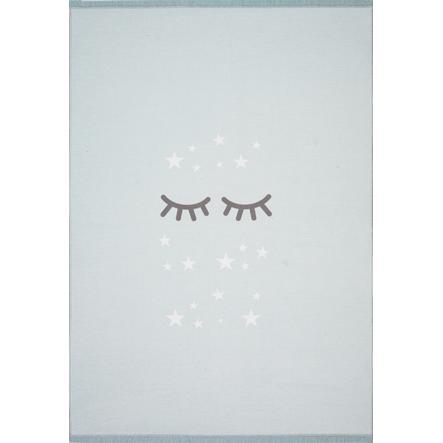 LIVONE Gulvtæppe Happy Rugs Sleeping Eyes, mint/hvid 100 x 160 cm