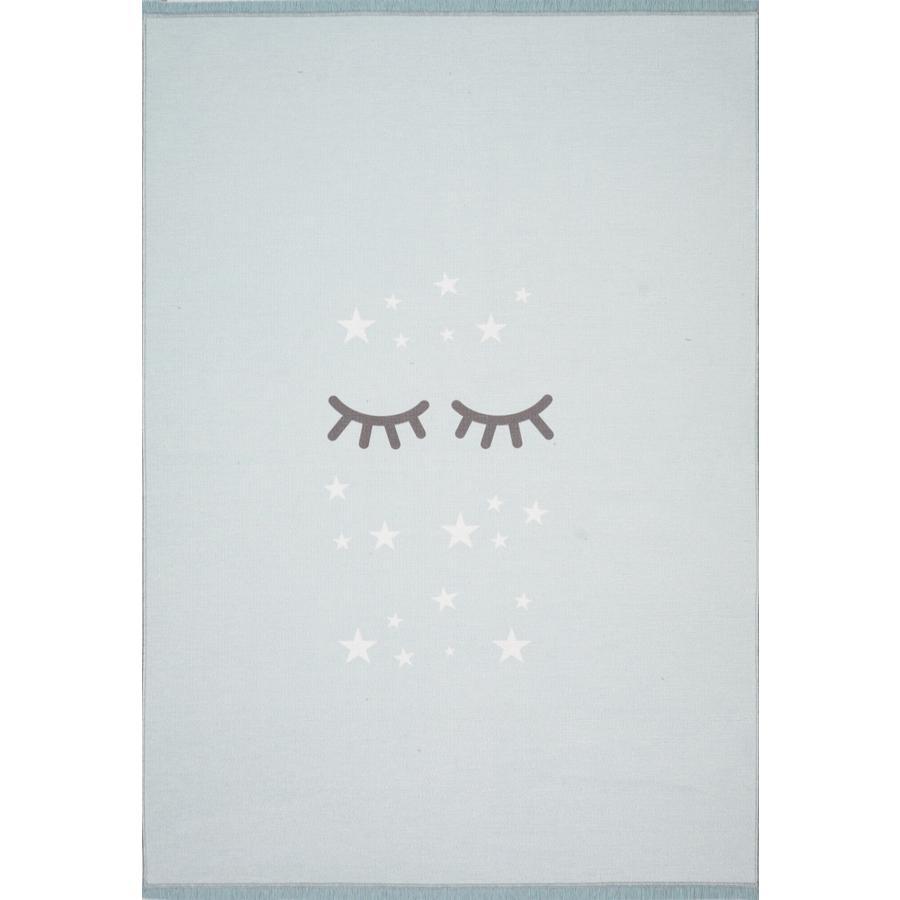 LIVONE play a dětský koberec Happy Rugs Sleepi ng Eyes, mincovna / bílá, 100 x 160 cm