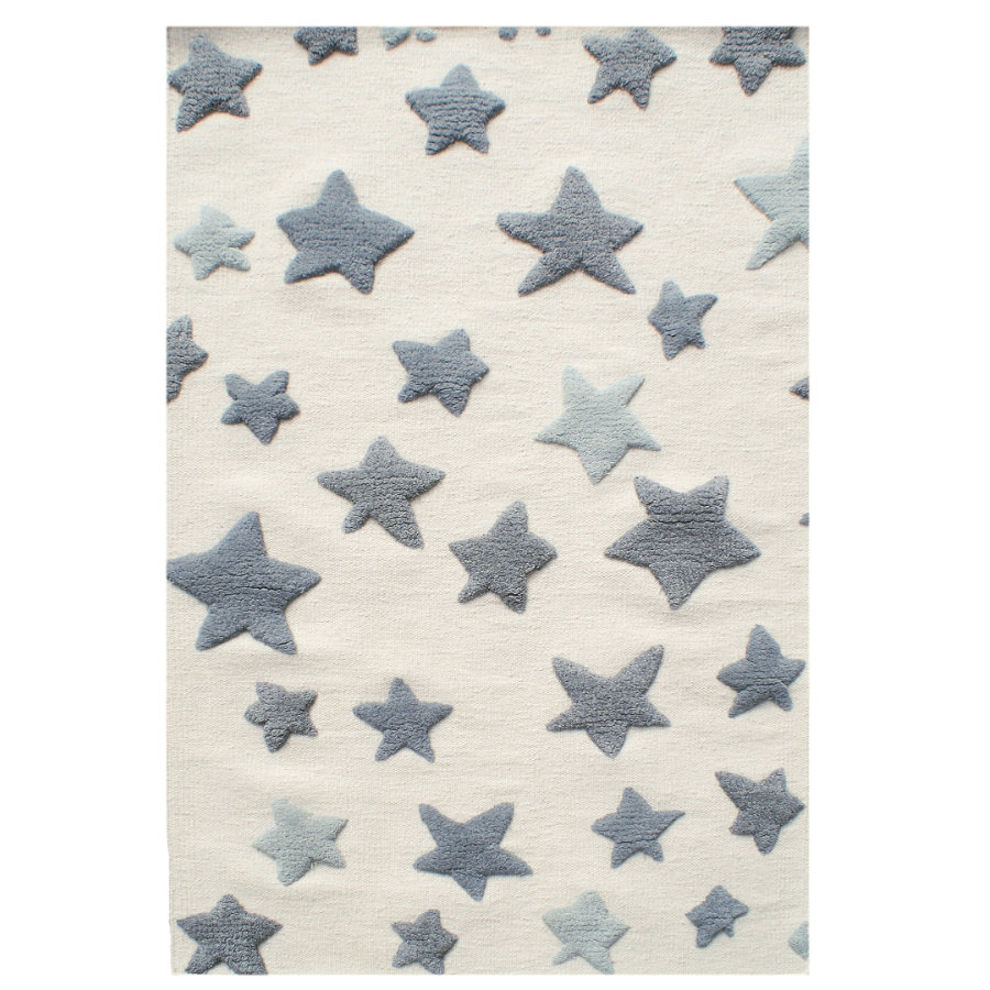LIVONE Barnmatta Happy Rugs Seastar, natur/grå, 120 x 180 cm