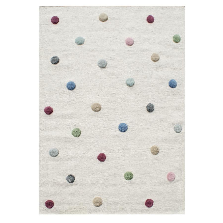 LIVONE Matto Happy Rugs, Colordots luonnonvärinen/värikäs, 120 x 180 cm