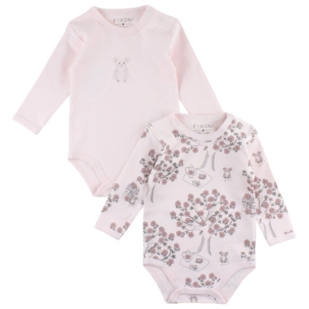 FIXONI Girls Langarmbody 2er Pack rosa