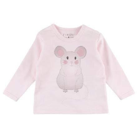 FIXONI Girls Langarmshirt Maus rosa