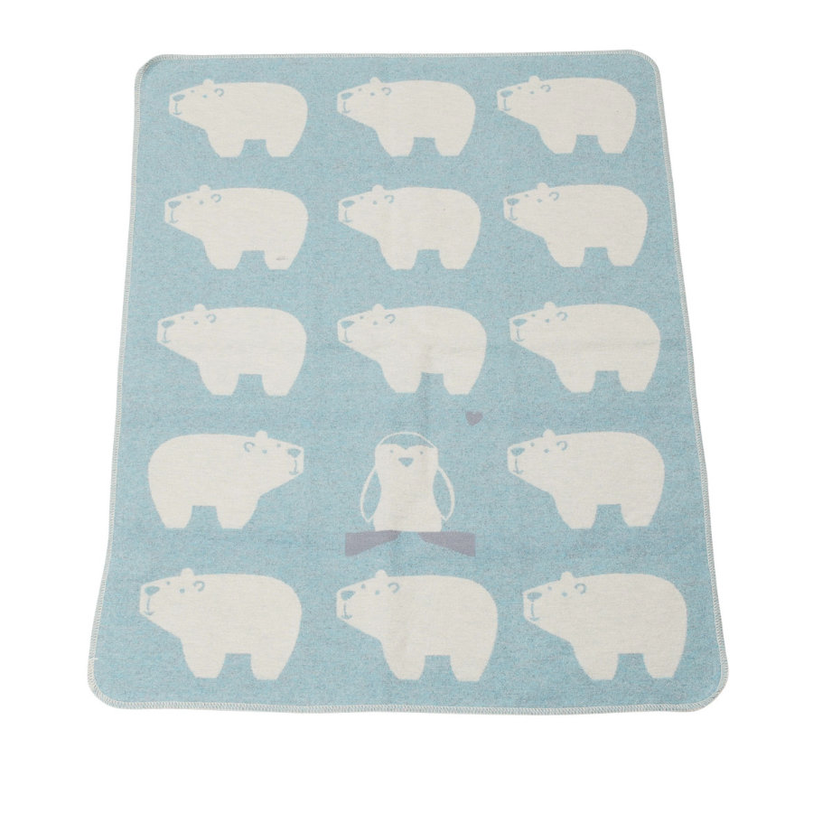 DAVID FUSSENEGGER Kocyk dziecięcy Niedźwiedzie polarne jade 70 x 90 cm