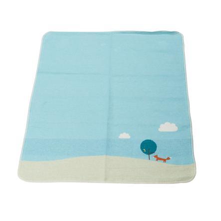 DAVID FUSSENEGGER Dětská deka hůlka liška jade 70 x 90 cm