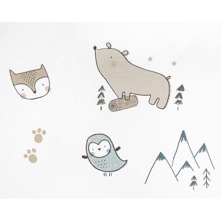JULIUS ZÖLLNER Wickelauflage 2-Keil Mulde Folie Nordic Bear 50 x 65 cm