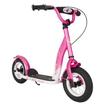 "bikestar Kinderroller 10"" Classic, pink/weiß"