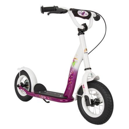 """bikestar Scooter para niños 10"""" Classic Berry Blanco"""
