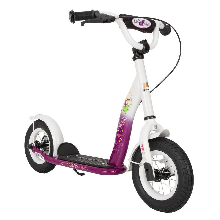 "Bikestar Potkulauta 10"" classic, berry valkoinen"