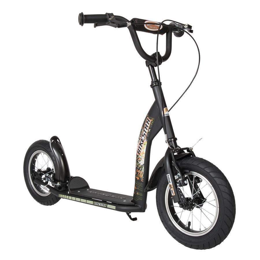 """bikestar Premium Patinete 12"""" Negro mate"""