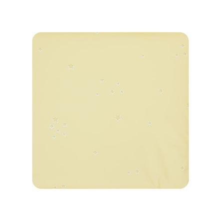 Alvi Matelas à langer Wiko Molly étoiles, jaune, 75 x 85 cm