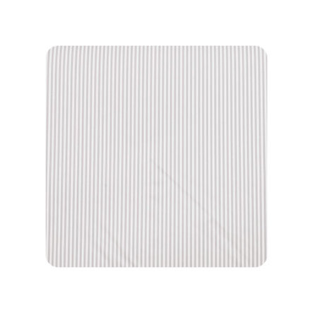 Alvi Wickelauflage Kuschel Folie Kuschel Streifen grau 75 x 85 cm