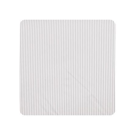 Alvi Wickelauflage Kuschel Folie Streifen grau 75 x 85 cm