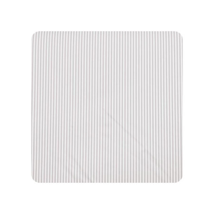 Alvi Fasciatoio tappetino Kuschel strisce di alluminio grigio 75 x 85 cm