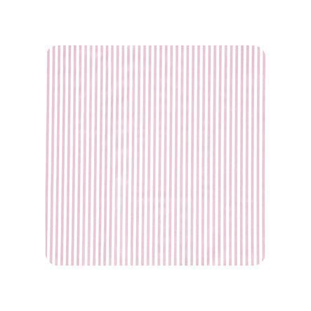 Alvi skiftematte Kuschelfolie Kuschel striper rosa 85 x 75 cm