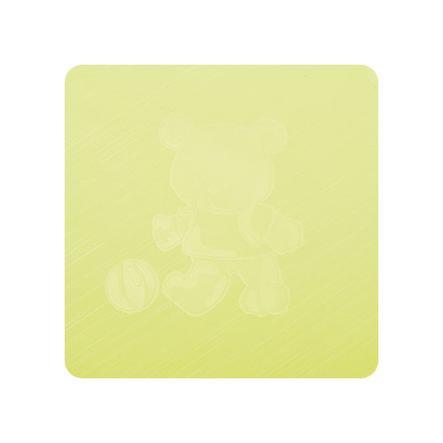 Alvi Wickelauflage Kuschel Folie Teddy grün 75 x 85 cm