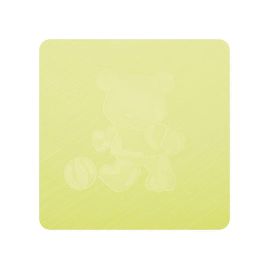 Alvi Wickelauflage Kuschel Folie Teddy grün 85 x 75 cm