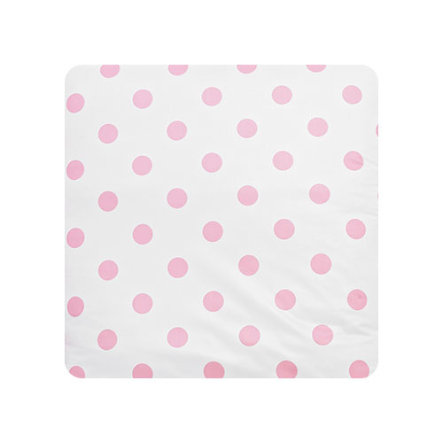 Alvi Wickelauflage Kuschel Folie Schlafmützen rosa 75 x 85 cm
