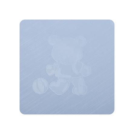 Alvi Fasciatoio Kuschel Folie Teddy blu 75 x 85 cm