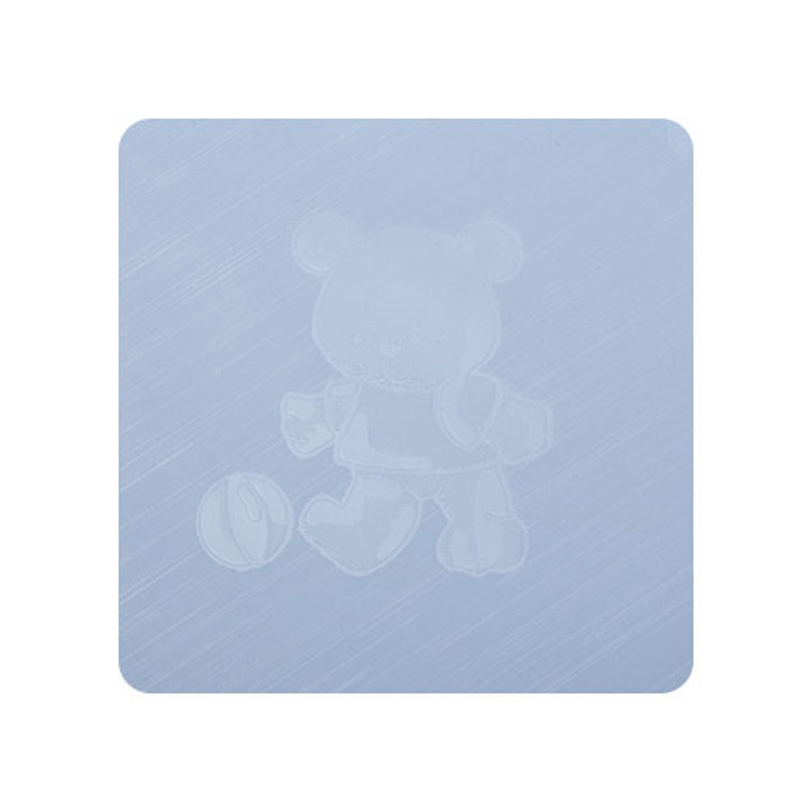 Alvi Wickelauflage Kuschel Folie Kuschel Teddy blau 75 x 85 cm