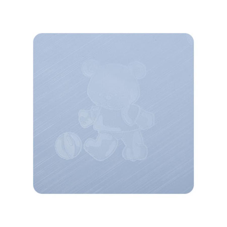 Alvi Wickelauflage Kuschel Folie Teddy blau 75 x 85 cm