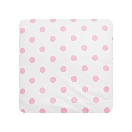 Alvi Cambiador lámina de plástico Lunares rosa 69 x 69 cm