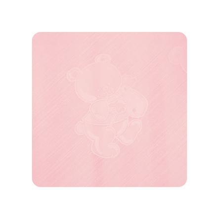 Alvi Materassino per fasciatoio Teddy rosa 69 x 69 cm