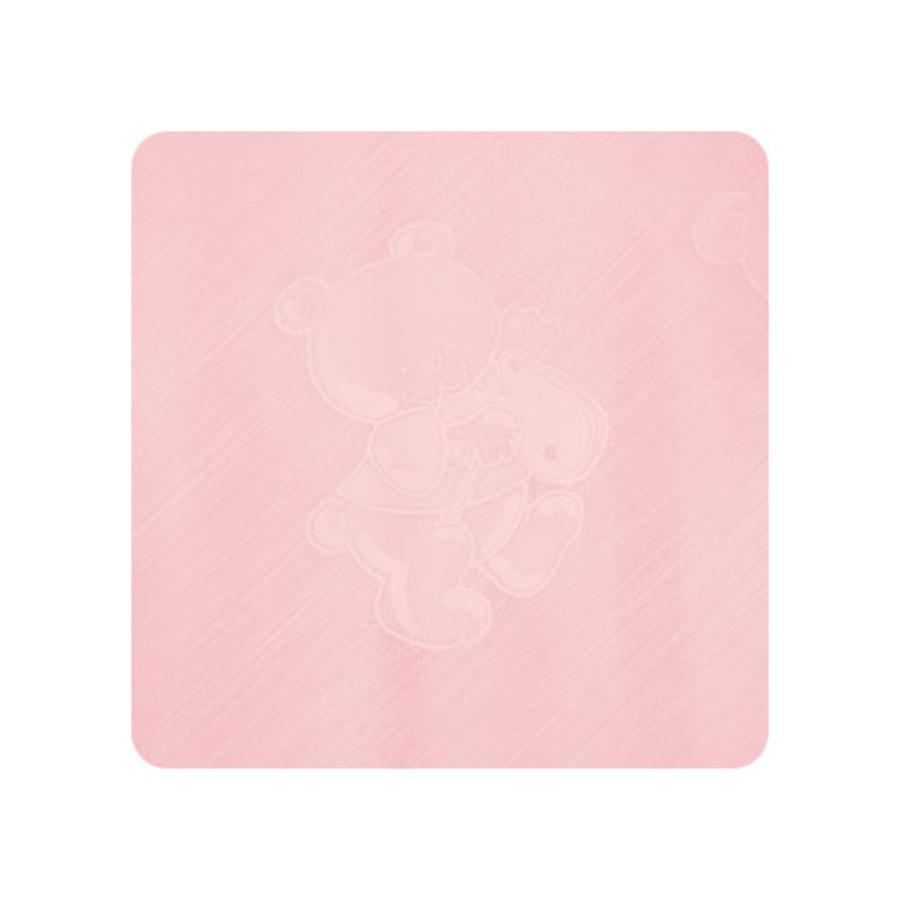 Alvi Wickelauflage Kuschel Folie Teddy rosa 69 x 69 cm