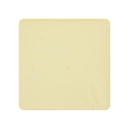 Alvi® Matelas à langer étoiles jaune, 69x69 cm