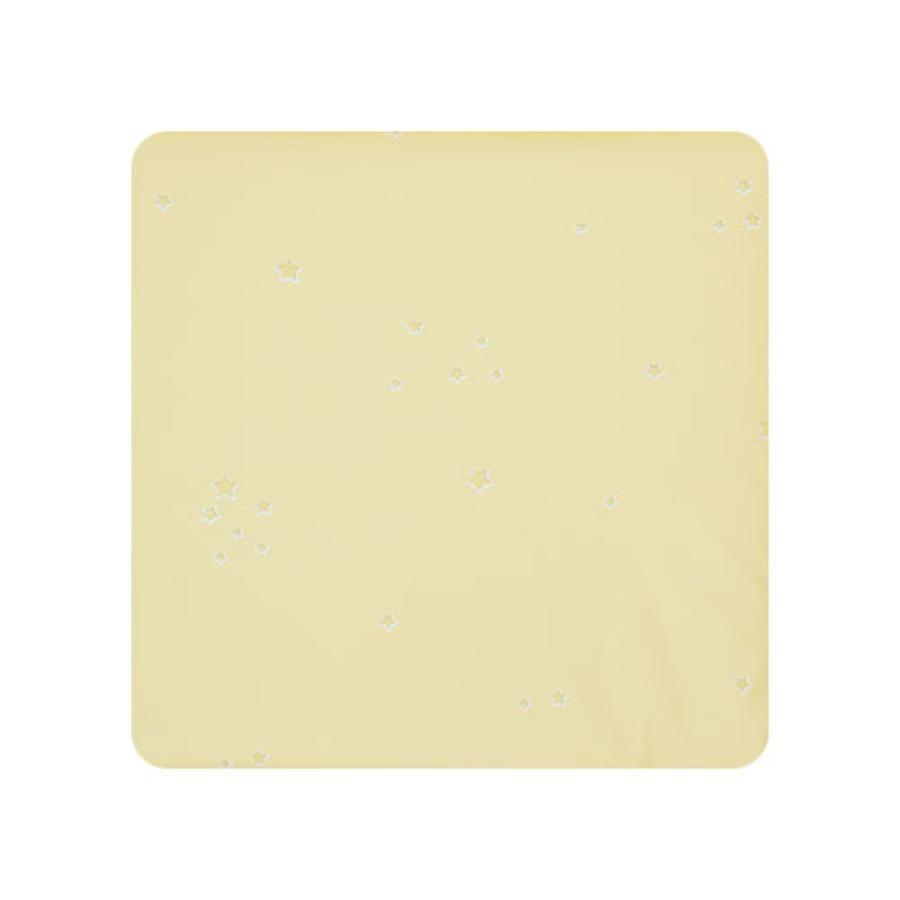 Alvi Wickelauflage Kuschel Folie Sternchen gelb 69 x 69 cm