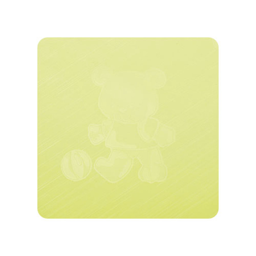 Alvi Wickelauflage Kuschel Folie Teddy grün 69 x 69 cm