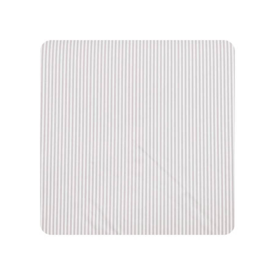 Alvi přebalovací podložka s potahem s klíny, pruhovaná, šedá 68 x 60 cm