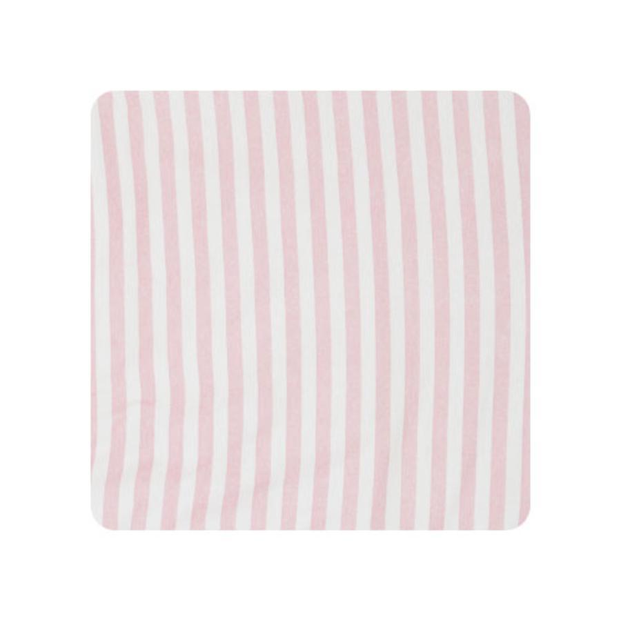 Alvi stelleunderlag med 2 kanter 68 x 60 cm - store striper, rosa