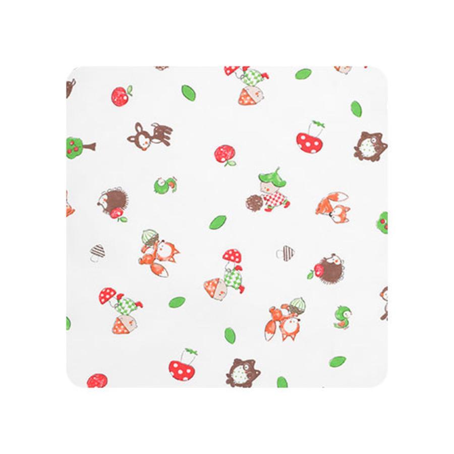 Alvi Matelas à langer 2 bordures amis forêt multicolore 68 x 60 cm