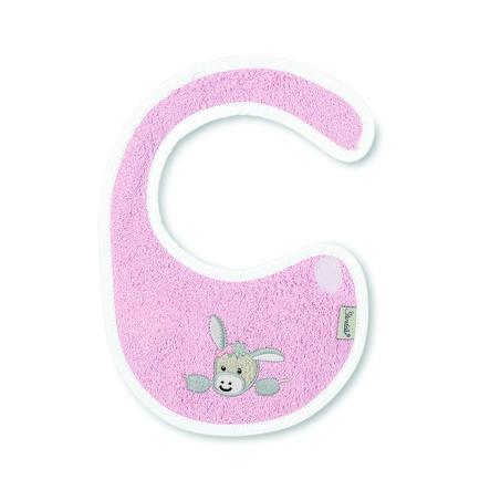 Sterntaler Plastik-Klettlätzchen Emmi Girl rosa weiß