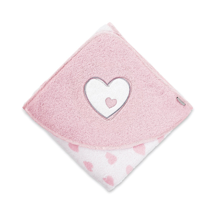 Sterntaler Asciugamano bagno Emmi Girl cuore 100x100 bianco