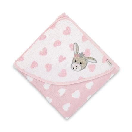 Sterntaler Asciugamano da bagno Emmi Girl 80 x 80 cm rosa