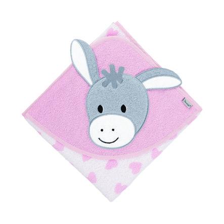 Sterntaler Ręcznik kąpielowy z motywem Emmi Girl biały 80 x 80 cm