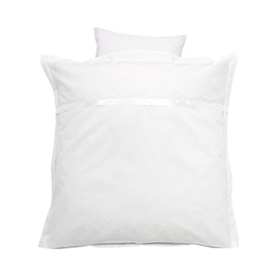 Alvi Ropa de cama Satinado blanco 80 x 80 cm