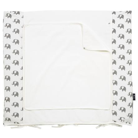 mageknapp av Alvi Skiftematteomslag 85 x 70 cm, Elefant hvit