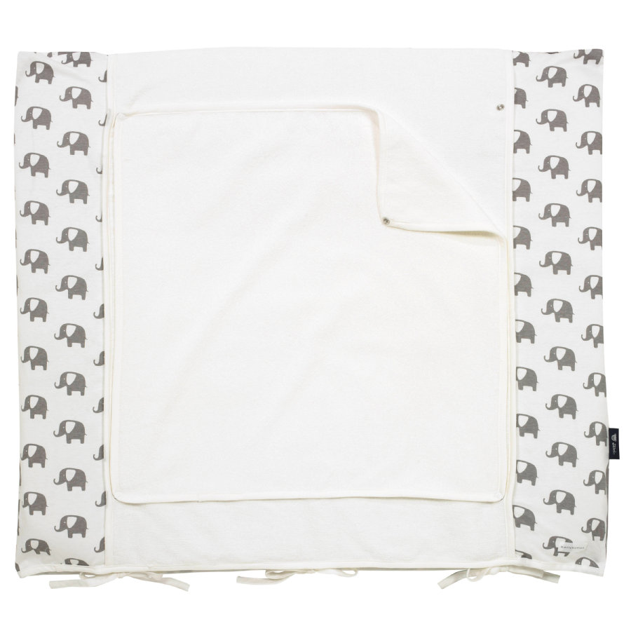 Alvi Housse matelas à langer éléphant édition spéciale blanc 70 x 85 cm