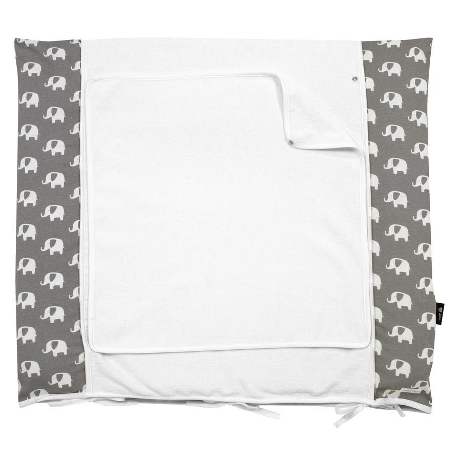 Alvi Housse matelas à langer éléphant édition spéciale gris 70 x 85 cm