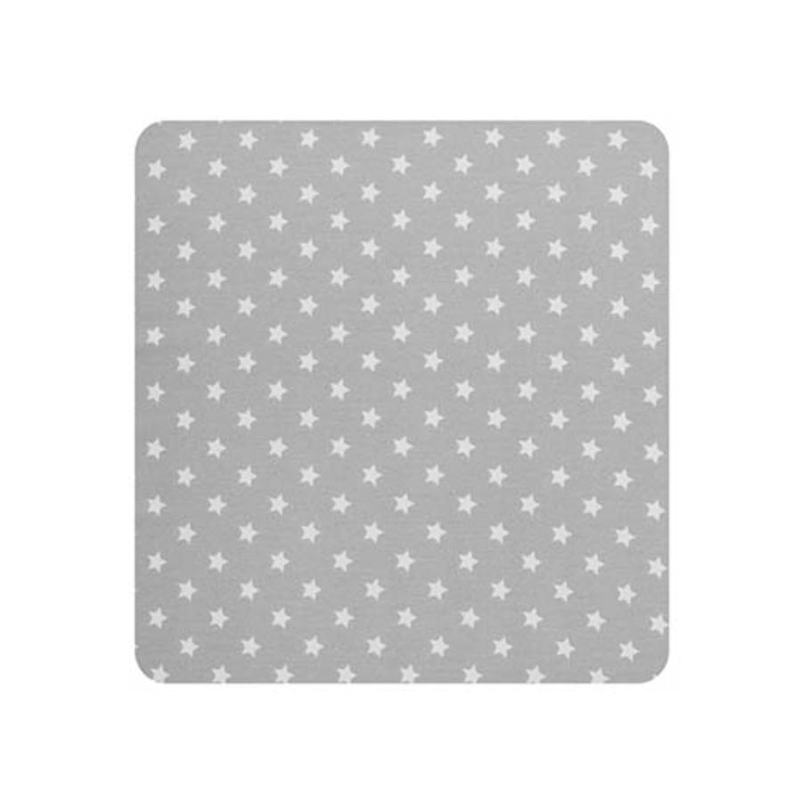 Alvi® Housse de matelas à langer étoiles argent 70x85 cm