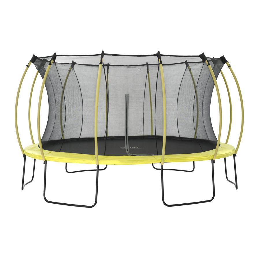 plum® Colours Springsafe® Trampolin mit Sicherheitsnetz Citrus Lime, 426 cm