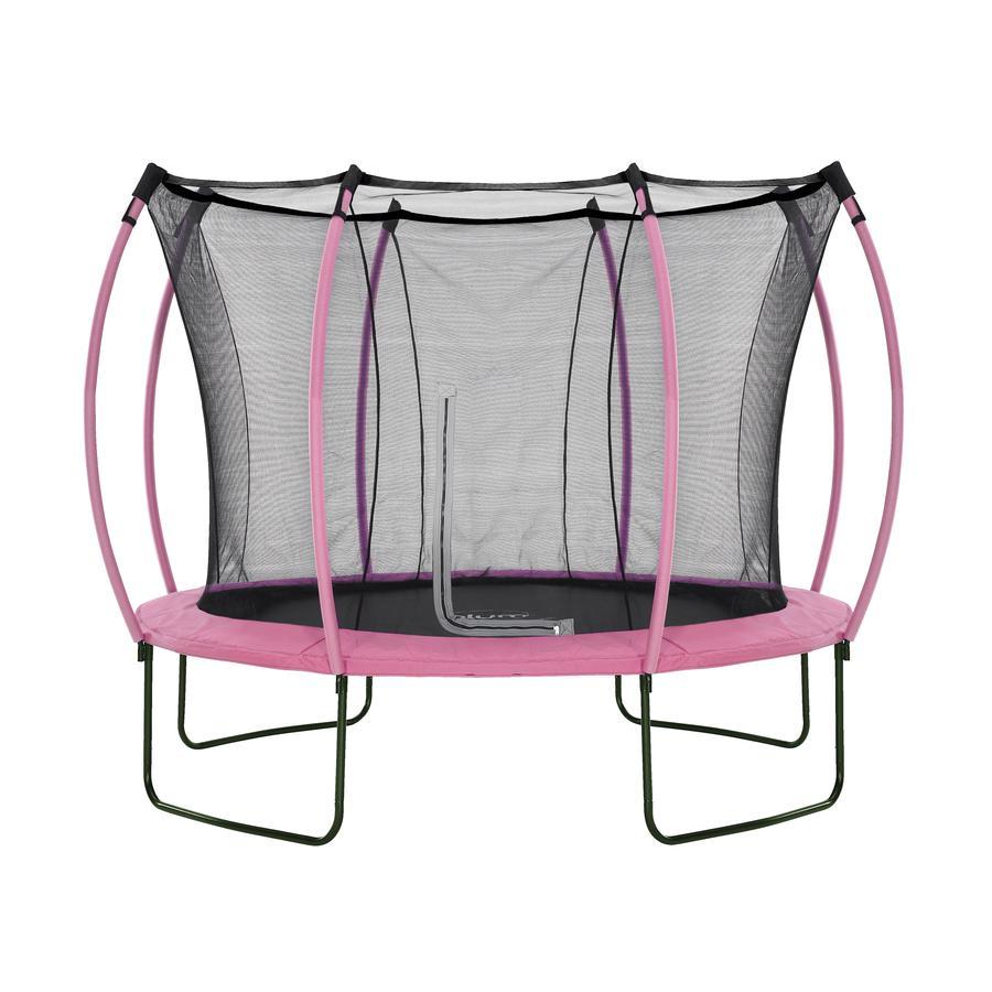 plum® Colours Springsafe® Trampolin mit Sicherheitsnetz Flamingo Pink, 305 cm