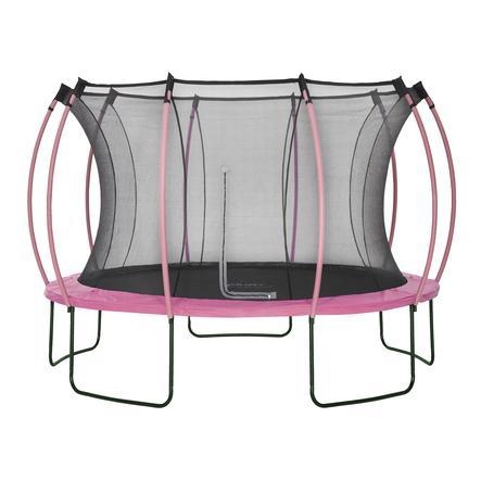 plum® Colours Springsafe® Trampolin mit Sicherheitsnetz Flamingo Pink, 366 cm