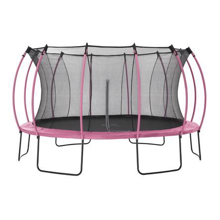 plum® Colours Springsafe® Trampolin mit Sicherheitsnetz Flamingo Pink, 426 cm