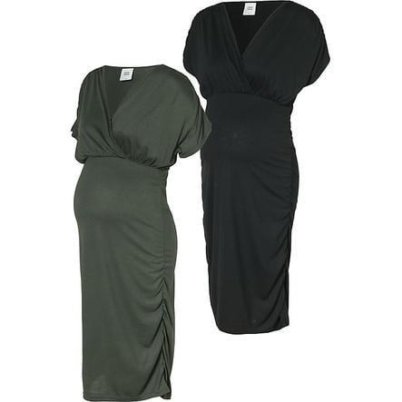 mama licious Robe de maternité MLPILAR 2-pack thym